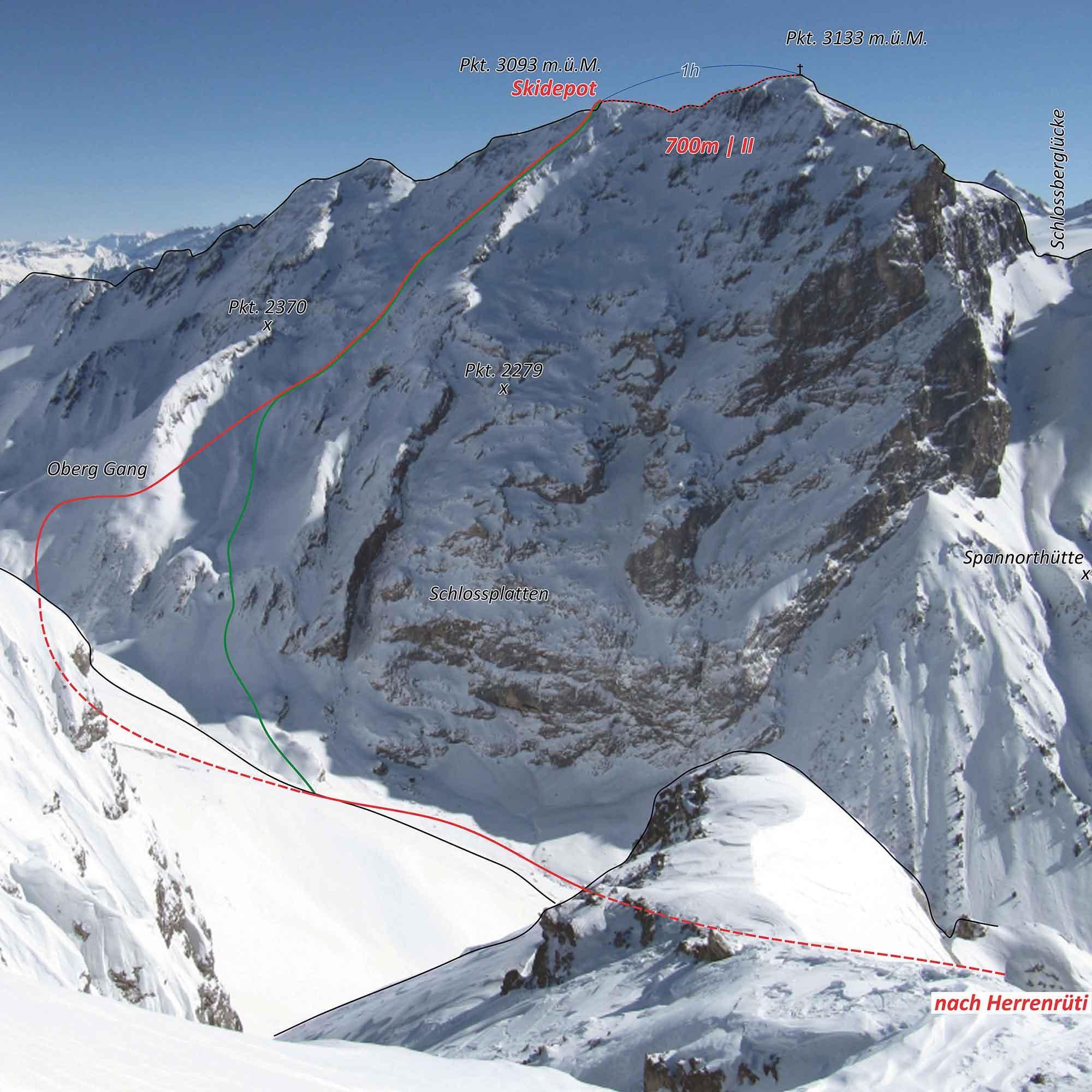 Skitour Schlossberg